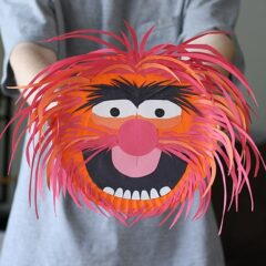 Paper Plate Animal from The Muppets by @amandaformaro Crafts by Amanda