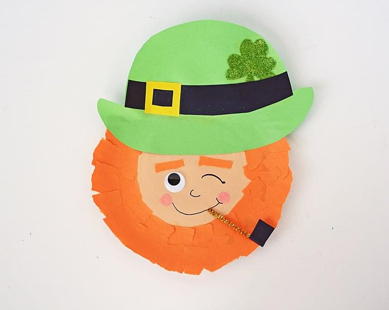 Winking Paper Plate Leprechaun Crafts By Amanda