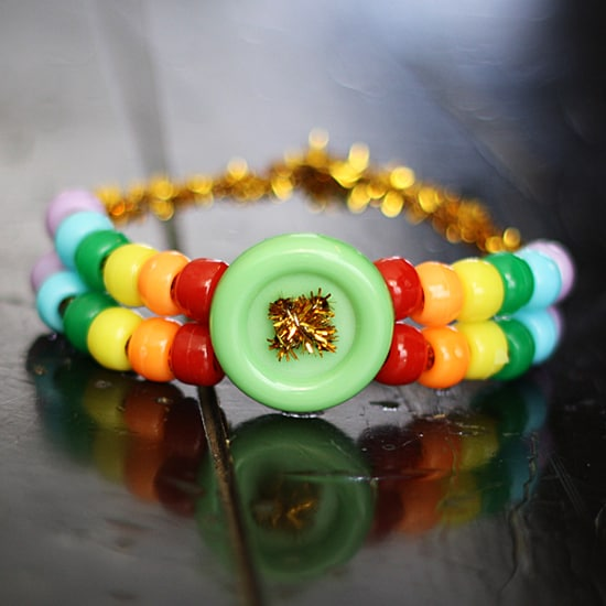 rainbow pony bead bracelet 550 by @amandaformaro
