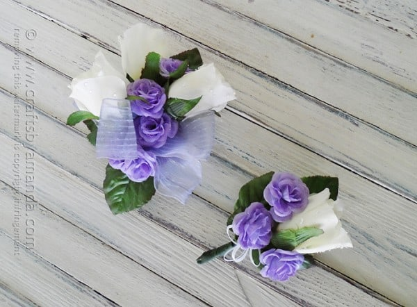 Make your own corsage and boutonniere for prom crafts by amanda how to make your own corsage and boutonniere for prom or homecoming mightylinksfo