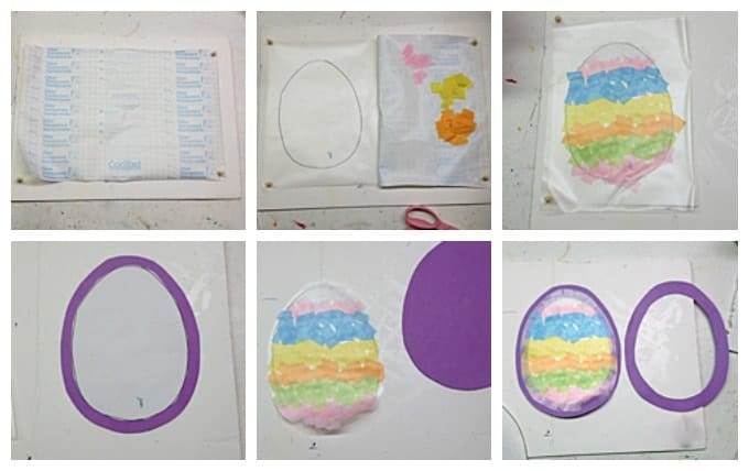 Easter Egg Sun Catcher steps