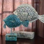 Garage Sale Metal Fish Makeover