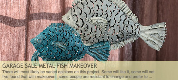 Garage Sale Metal Fish Makeover