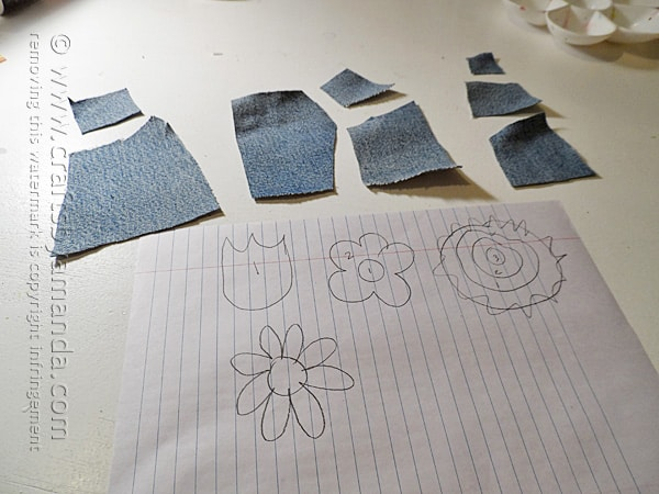 Draw out some simple flower shapes