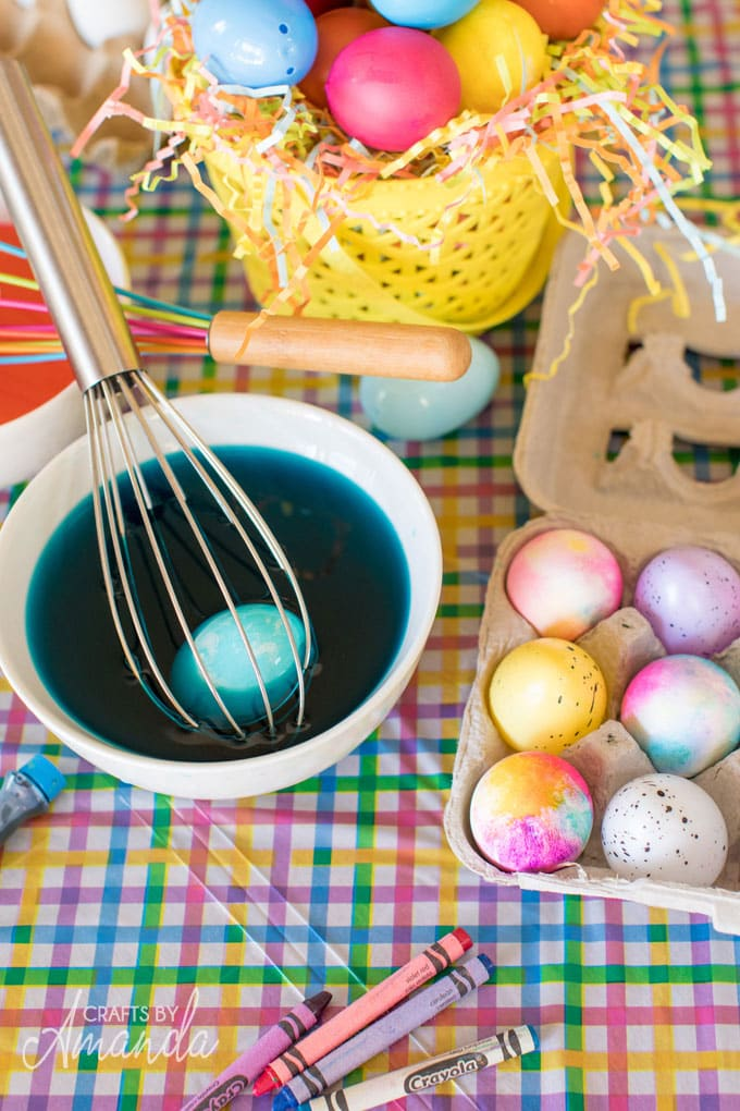 easter egg dyeing supplies