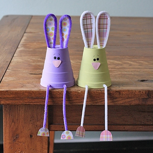 Foam cup bunnies crafts by amanda for Spring craft ideas for adults