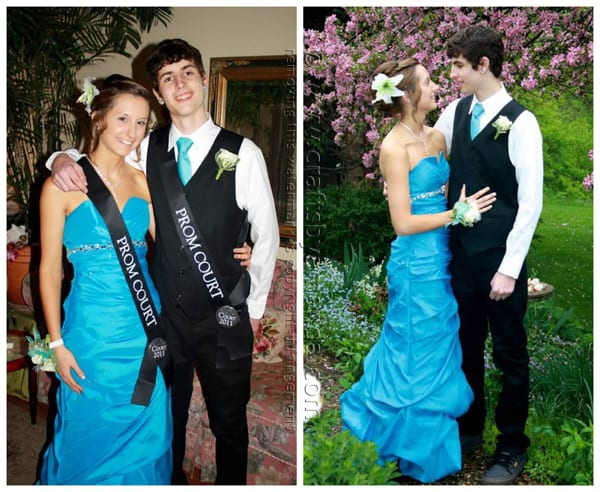 Kristen and Nick - prom king and queen!