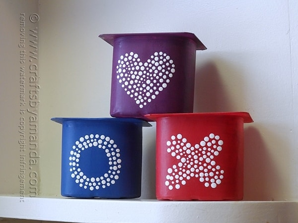 recycled yogurt container herb pots   crafts by amanda