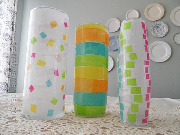 How lovely! What a great decoupage craft for me and the kids. Great for Grandma for Mother's Day too!
