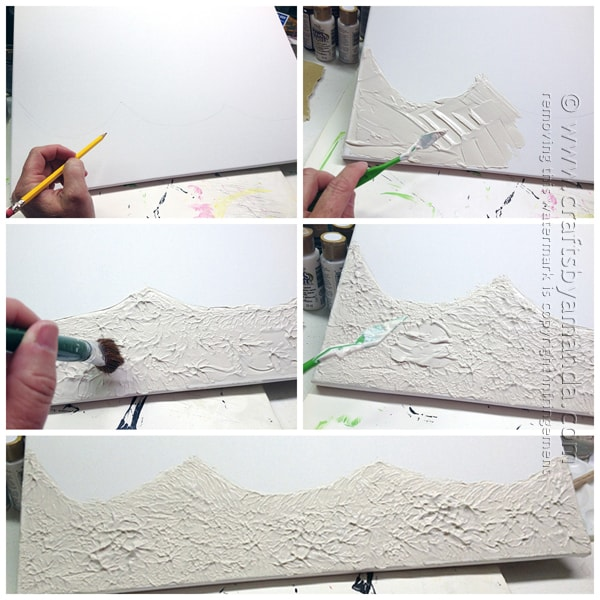 step 1 - draw the sea floor and add the stucco