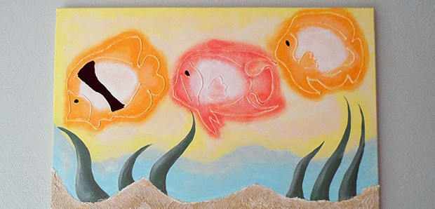 3D Tropical Fish on Canvas