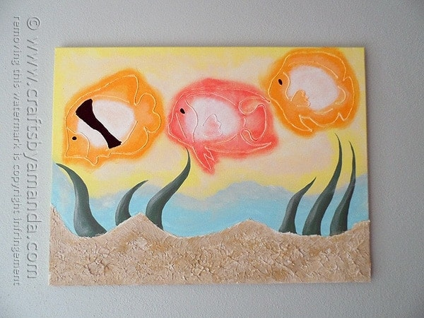 3d Tropical Fish Painting On Canvas Crafts By Amanda