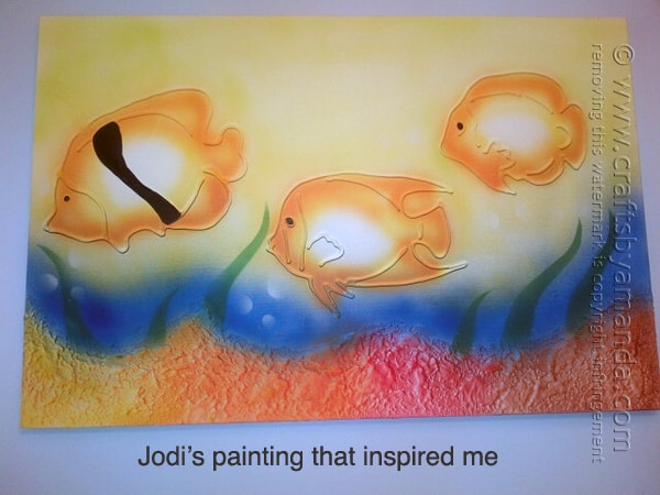 This tropical fish wall art was the inspiration for Amanda's 3D tropical fish painting.