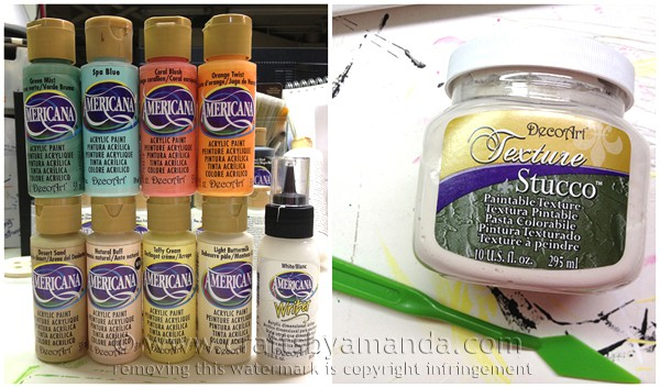 The products I used to create my 3D tropical fish painting