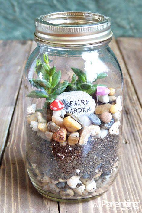 Terrarium in a Mason Jar - All Parenting