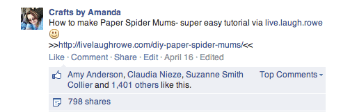 Paper Spider Mums - Live Laugh Rowe
