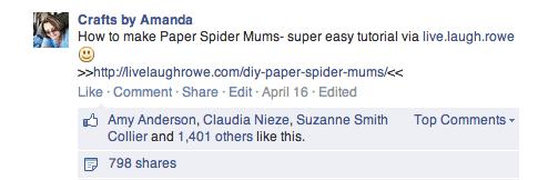 Paper Spider Mums - Live Laugh Rowe
