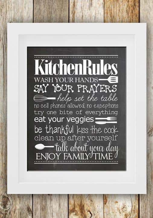 Kitchen Rules Printable - How to Nest for Less