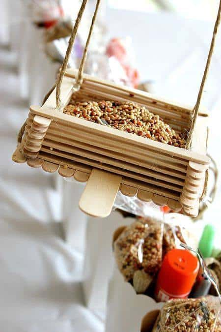 Craft Stick Bird Feeder - Create Celebrate Explore