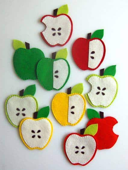 Apple Coasters - The Purl Bee