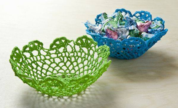 How to Make Bowls From $1 Doilies - DIY Candy