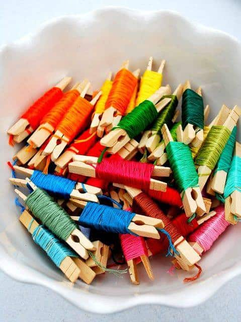 Organizing Embroidery Floss - Mrs. Jones