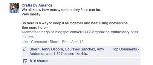 Organizing Embroidery Floss - Mrs. Jones
