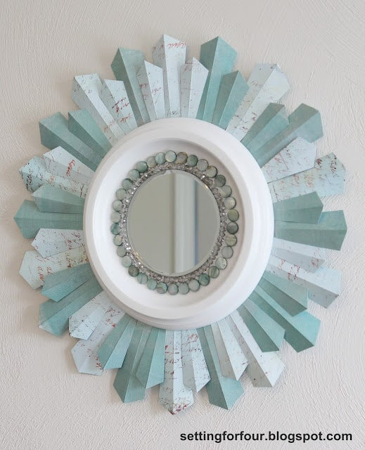 Beaded Sunburst Mirror - Setting for Four