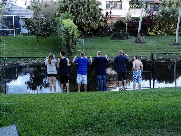 My family viewing the canal, Davies, FL