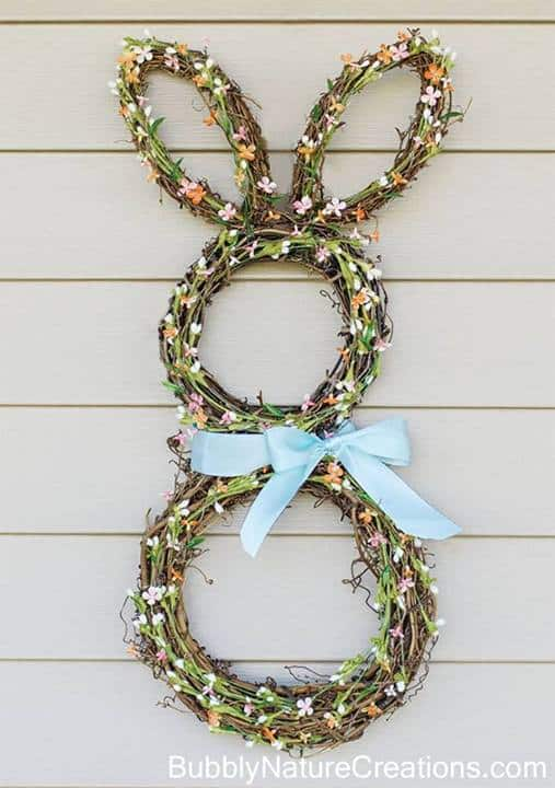 Bunny Wreath - Bubbly Nature Creations