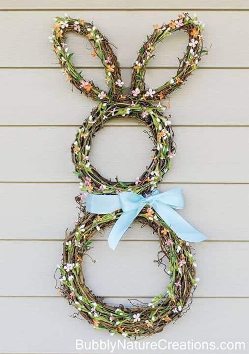 Bunny Wreath - Bubbly Nature Creations