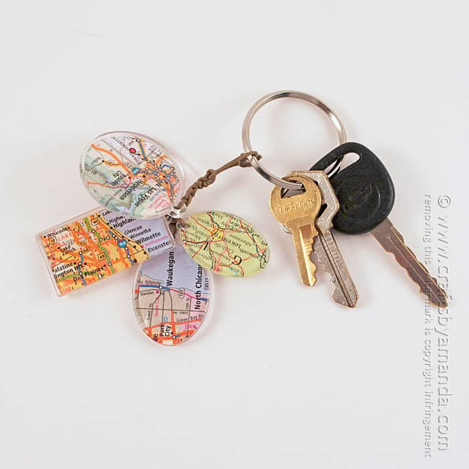 How To Make Birthplace Map Keychain Charms