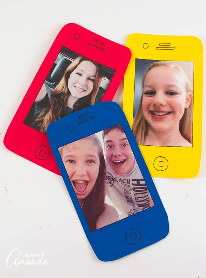 Cell Phone Selfie Card - great for Mother's Day or Father's Day!