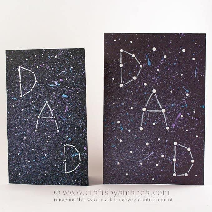 Galaxy Constellation Father's Day Card - Amanda Formaro, Crafts by Amanda