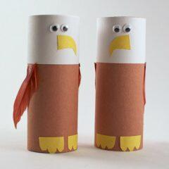 Make an Eagle from a Cardboard Tube by @amandaformaro of Crafts by Amanda
