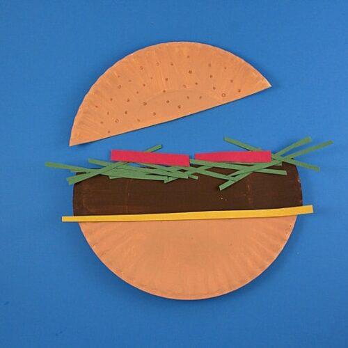 Paper Plate Hamburger by @amandaformaro Crafts by Amanda