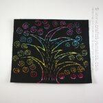 Scratch Art Rainbow Tree