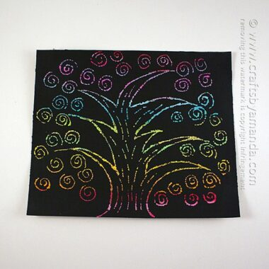 Scratch Art Rainbow Tree