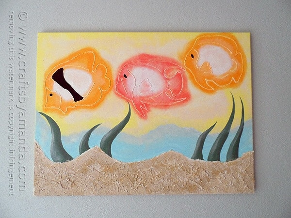 3D Tropical Fish on Canvas - Coastal Wall Art by @amandaformaro Crafts by Amanda