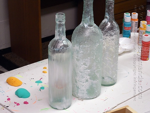 As the Texture Glass dries it will turn from white to clear