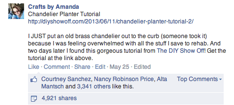 Chandelier Planter Tutorial - The DIY Show Off