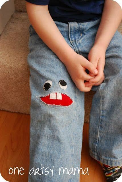Monster Knee Patch - One Artsy Mama