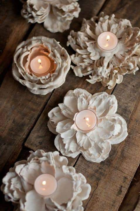 Plaster Flower Votives - Design Mom