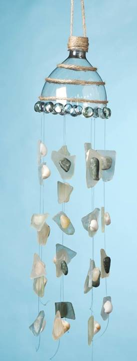 Liter Bottle Wind Chime - I Love to Create