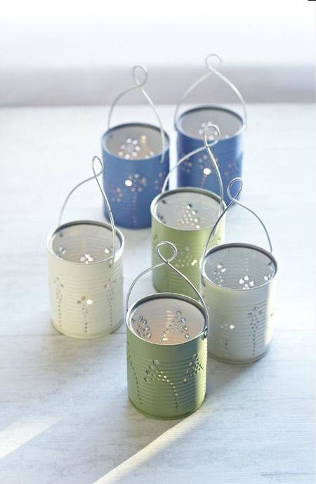 Tin Can Lanterns - Craft Foxes