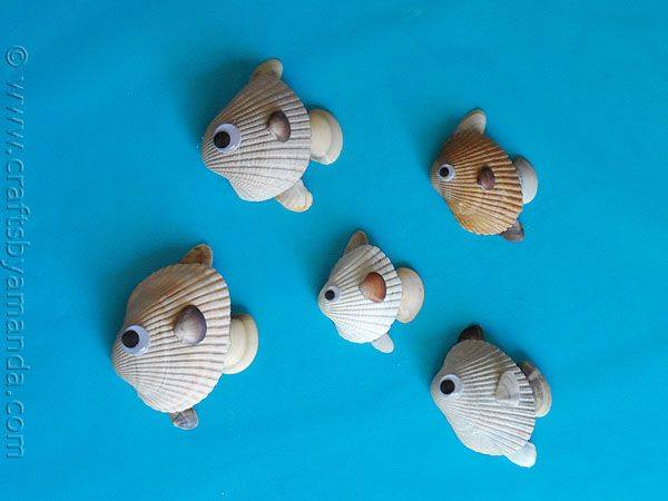 Seashell Fish - Crafts by Amanda