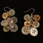 Antique Button Dangle Earrings by Amanda Formaro of Crafts by Amanda - great for a wedding!