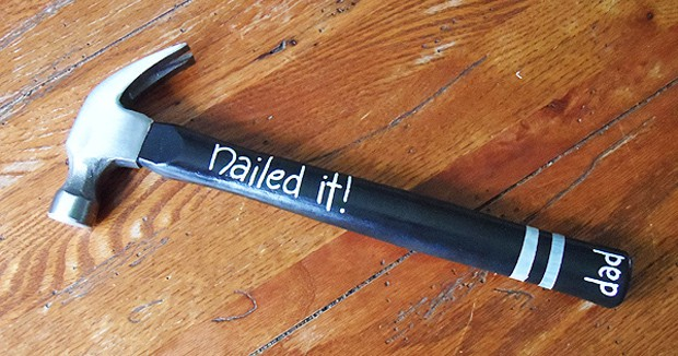 Nailed it Painted Hammer