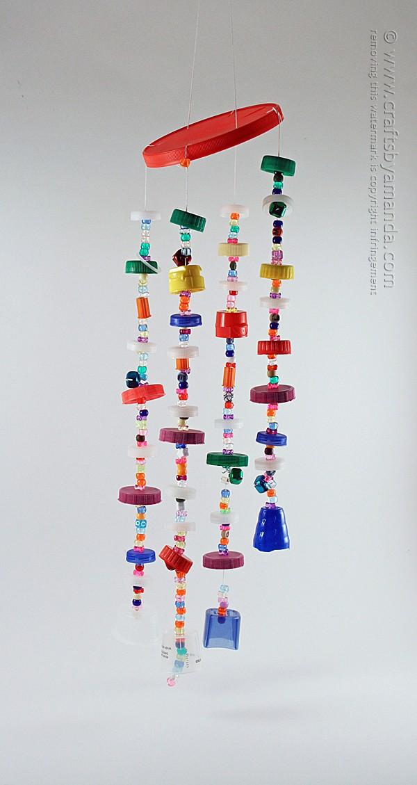 Recycled Plastic Lid Windchimes