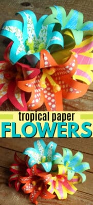 tropical paper flowers pin image